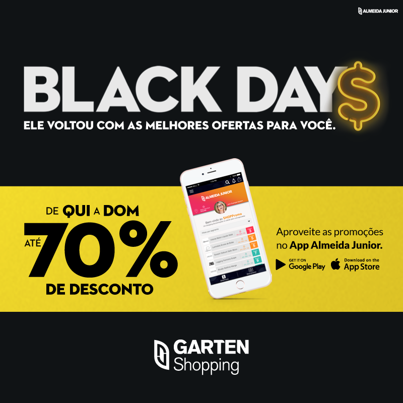 Garten Shopping inicia tradicional ação Black Days